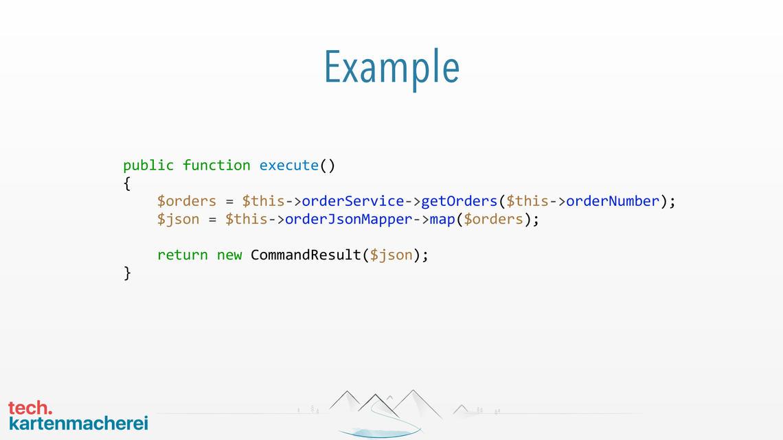 Die erste Folie des Beispiels zeigt, Programmcode der mit Tests abgedeckt werden soll