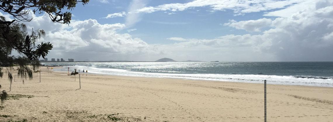 Der schöne Strand von Mooloolaba