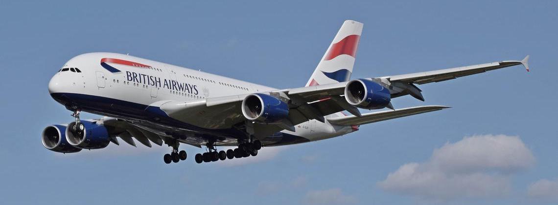Ein Airbus A380 der British Airways