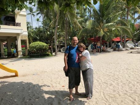 Noch ein letztes schönes Foto am Strand des Resorts