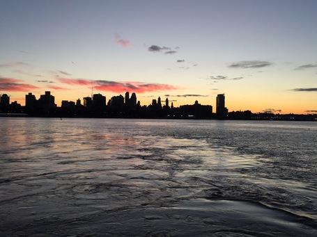 Sonnenaufgang ueber Brooklyn
