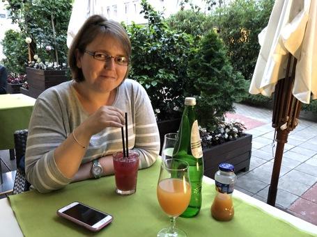 Steffi an Ihrem Geburtstag im Restaurant Novak
