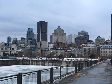 Montreals Innenstadt vom Hafen aus gesehen