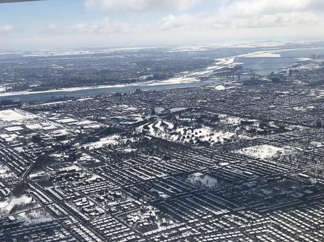 Montreal aus dem Flieger