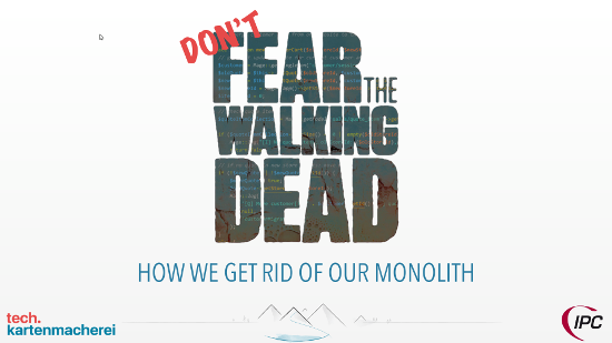 First slide of Sebastian Thoss presentation do not fear the walking dead