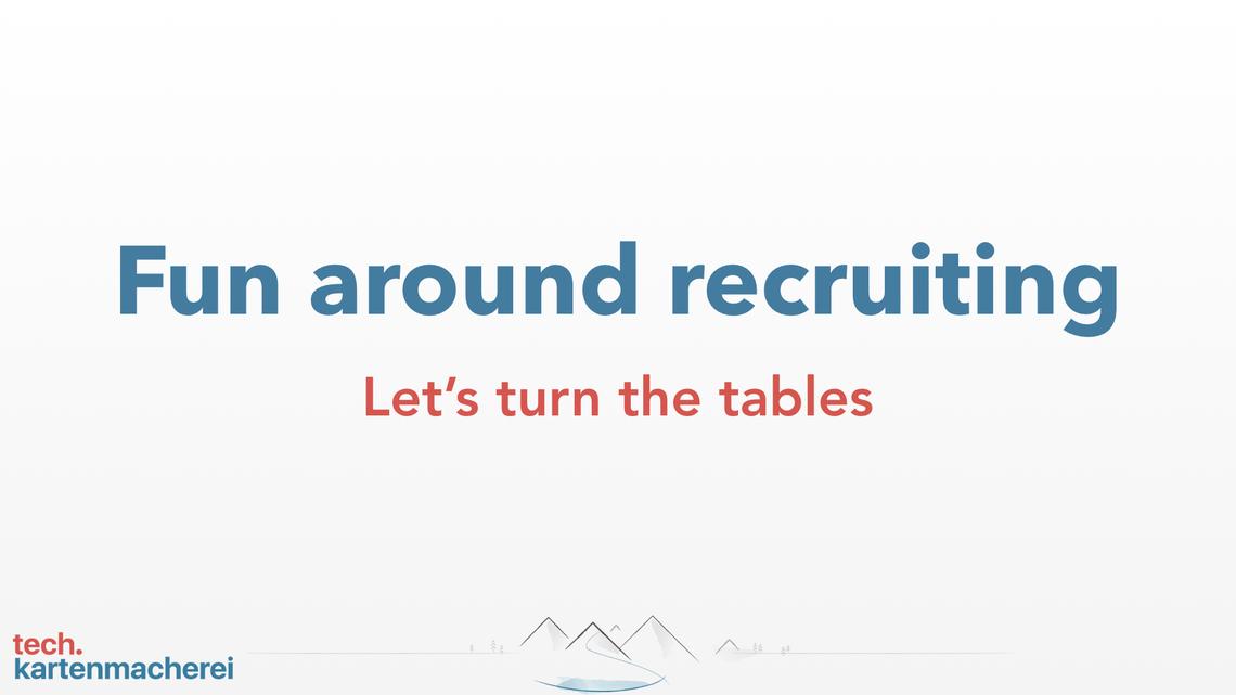 First slide of Sebastian Thoss presentation fun about recruiting