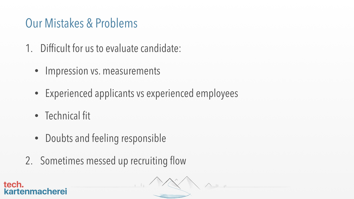 With this slide Sebastian Thoss his usual issues in recruiting IT people