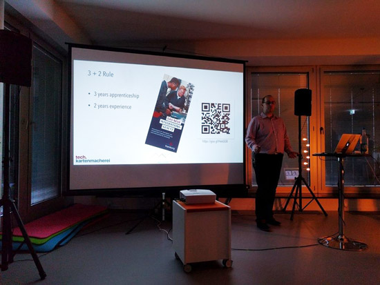 Sebastian Thoss talking about new german law regarding refugees in apprenticeship